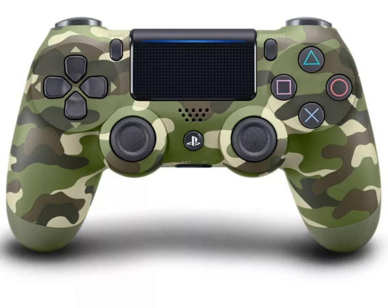 Геймпад Sony DualShock 4 Wireless Cont Green Cammo для PS4 (камуфляжный)