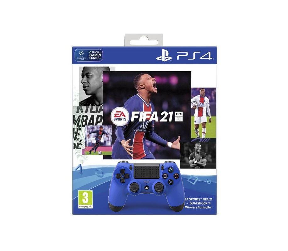 Беспроводной геймпад DualShock 4 Wireless Controller v2 + диск Fifa 21 PS4
