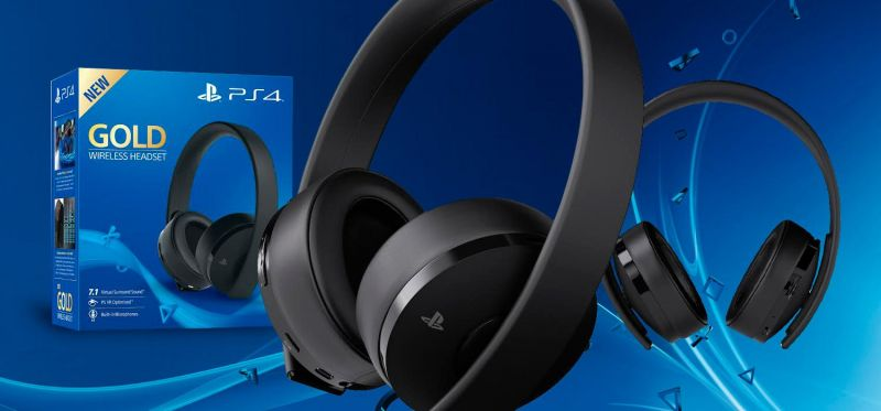Беспроводная гарнитура для PS4 (Sony Wireless Stereo Headset Gold V2)