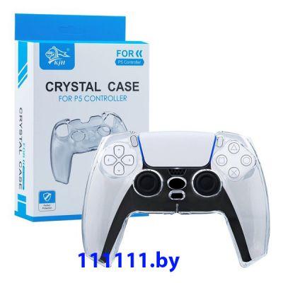 Прозрачный кейс чехол для контроллера DualSense PlayStation 5 | PS5 | ПлейСтейшен 5 | ПС5