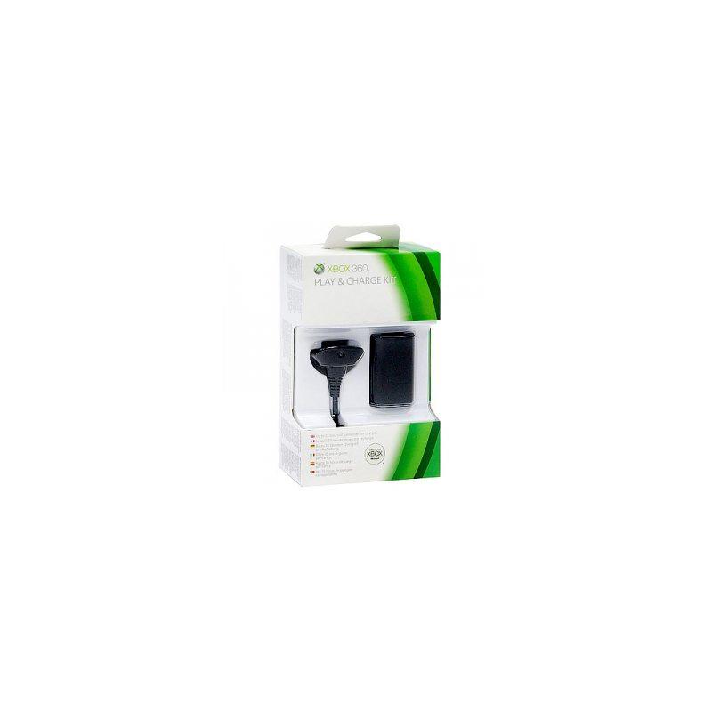 Аккумулятор + Зарядный кабель для беспроводного геймпада (Microsoft) для Xbox 360