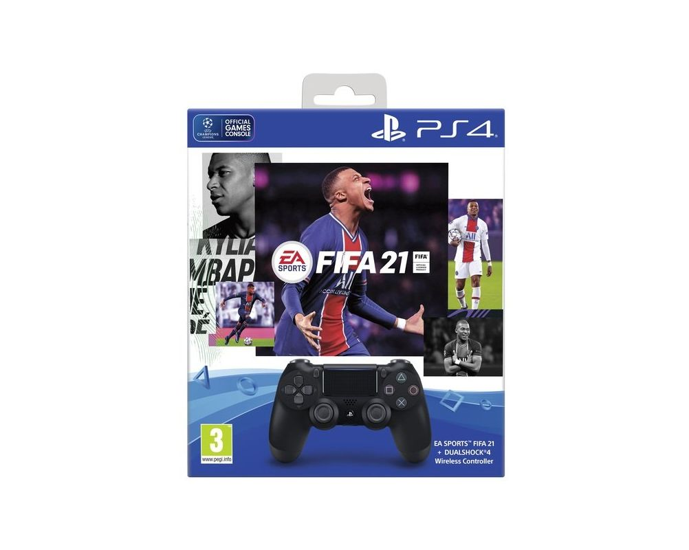 Беспроводной геймпад DualShock 4 Wireless Controller v2 + Fifa 21 PS4
