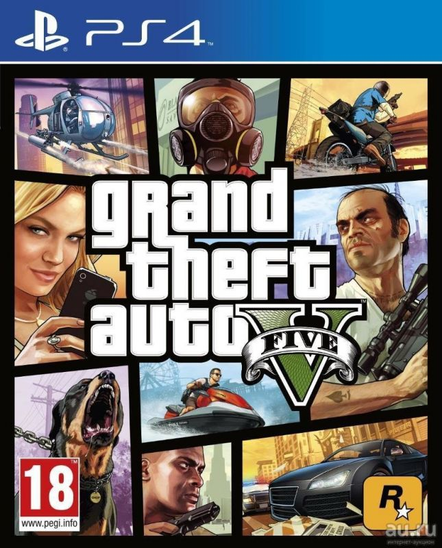 Grand Theft Auto 5 playstation 4 (GTA 5 для PS4)