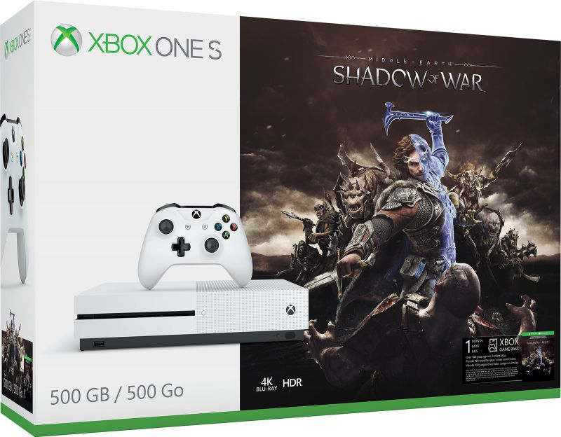 Игровая приставка Microsoft Xbox One S + Shadow of War