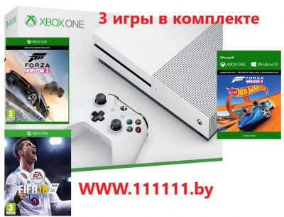 Xbox One S 500 GB + Forza Horizon 3 + Hot Wheels + FIFA 18