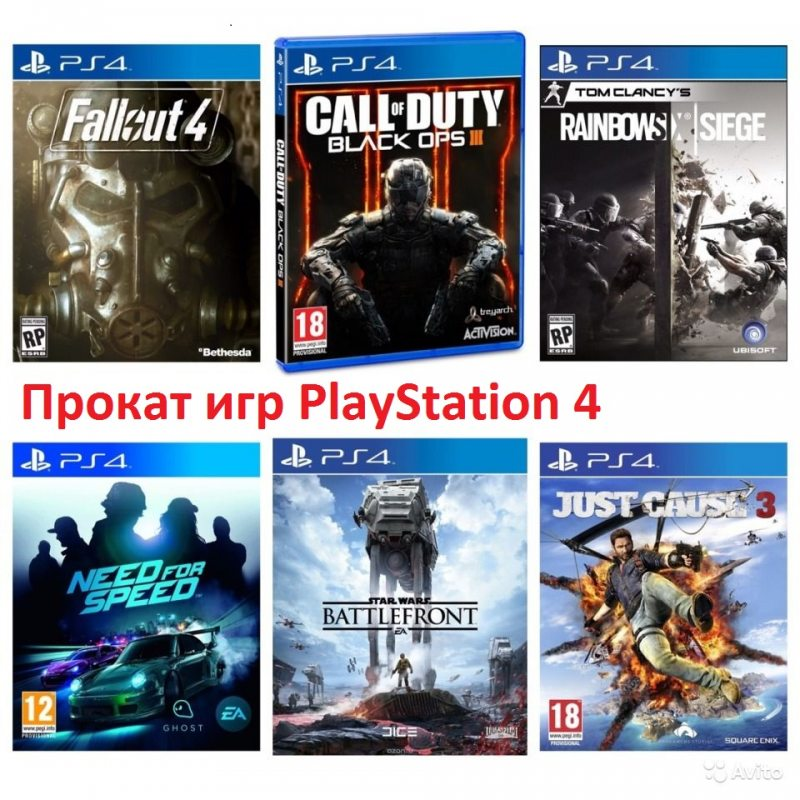 Прокат игр PlayStation 4