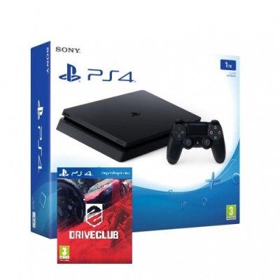 Sony Playstation 4 Slim 1Tb Black Игровая консоль + Drive Club