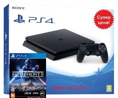PlayStation 4 Slim + StarWars Battlefront 2