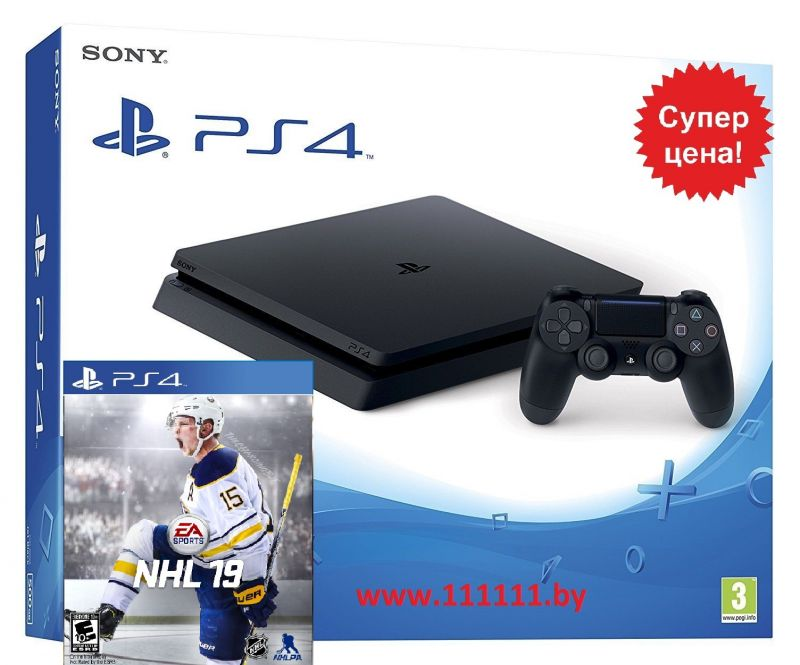 PlayStation 4 Slim + NHL 19