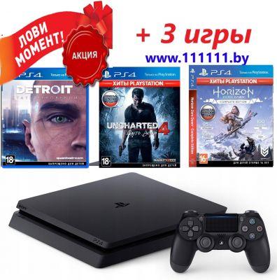 PlayStation 4 + 3 ХИТА (3 игры)