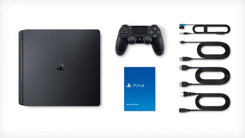Игровая приставка Playstation 4 slim + Руль PS4