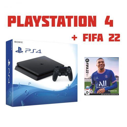 SONY PlayStation 4 Slim + Игра FIFA 22