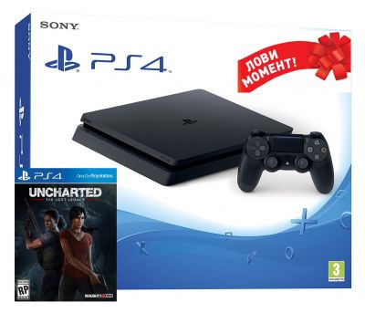 PlayStation 4 Slim 1TB  + Uncharted The Lost Legacy