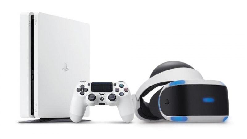 Sony Playstation 4 slim (белая)