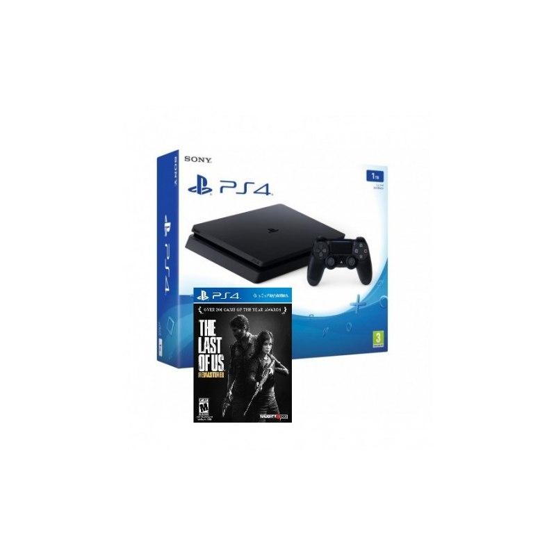 Sony Playstation 4 Slim 1Tb Black Игровая консоль + The Last Of Us (PS4)