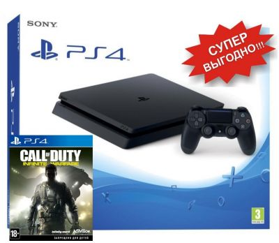 PlayStation 4 Slim + Call of Duty: Infinite Warfare PS4