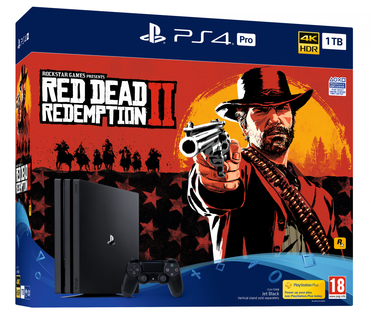Sony PS4 Slim и PS4 Pro комплект с Red Dead Redemption 2
