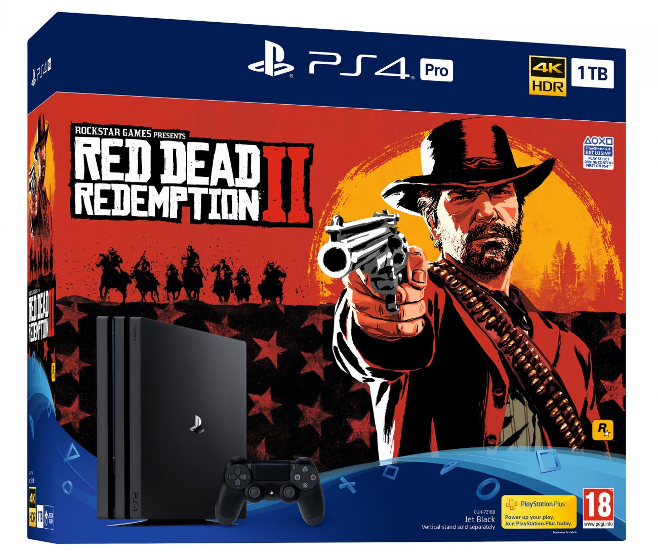 Sony PS4 Slim и PS4 Pro комплект с Red Dead Redemption 2
